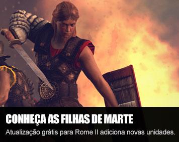 """Assuma o controle de mulheres guerreiras na expansão gratuita """"Daughters of Mars"""" para Rome II Total War"""
